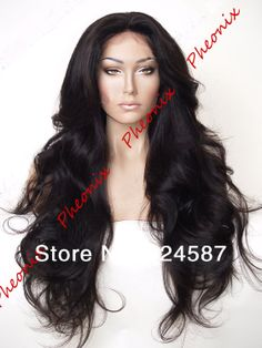 IN STOCK FREE SHIPPING hot selling natural wave  #1B Synthetic Lace Front wig  # 1B ( Flora -22.3 M) US $40.60 - 48.00