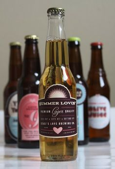 Custom beer labels - wedding favours?