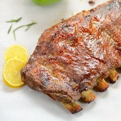 Fall-off the bones, caramelized PORK RIBS prepared in the OVEN to be enjoyed all year round... #pork #ribs #easy