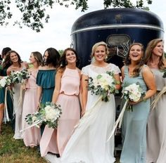 Shoe Me Your Mumu Bridesmaids via @ivorywhiteboutique | Mumu Weddings