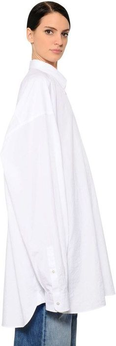 Maison Margiela Oversized Cotton Poplin Shirt