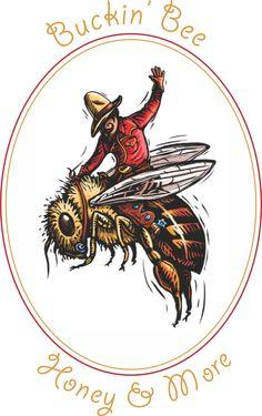 Bucking Bee- Beekeeping. I really Love this logo