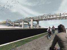 West 8 Urban Design & Landscape Architecture / projects / Pedestrian Bridge Wenduine