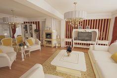 Design interior open space realizat in stilul clasic contemporan pentru vila in Constanta .