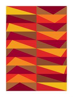 L'indifférence (Art Print, 2010) // Gary Andrew Clarke red orange