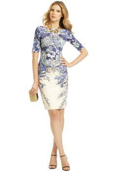 Lela Rose Blaue Blume Dress