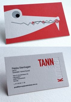 Cute And Quirky Letterpress Business Card For An Orthodontist