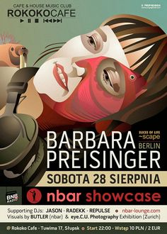 Barbara Preisinger @ Rokoko Café, Słupsk