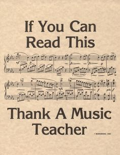 Thank a music teacher