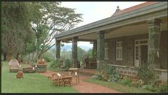"""Veranda from the movie version of the """"Out of Africa"""" house. (Apparently the production had to build a replica of the real house.)"""