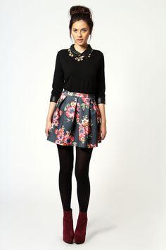 .Like the mix...longer skirt though