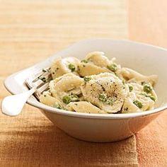 Creamy Tortellini With Peas Recipe | MyRecipes.com