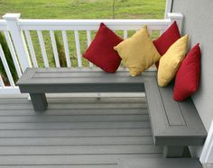 More gray and white! - porch railing ideas -