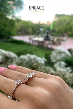 Shop and customize these engagement ring setting styles in the Engage app or at engagejeweler.com! Hundreds of ring designs to choose from, in the band metal of your choice: Rose Gold, Yellow Gold, White Gold or Platinum. #engagementring #diamond #diamondring #solitaire #threestonering #accentedring #accentdiamonds #sidestones #roundcutdiamond #ovaldiamond #cushioncut #marquise #asscher #princesscut #pearshapeddiamond #radiantcut #emeraldcut #centralpark #engagementinspo #weddingplanning Pear Shaped Diamond, Round Cut Diamond, Engagement Ring Settings, Diamond Engagement Rings, Three Stone Rings, Aster, Princess Cut, Types Of Metal, Ring Designs