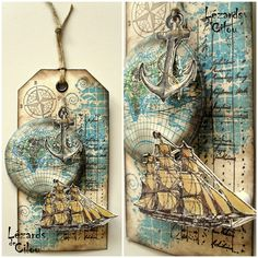 TAG N°10 MARS 2013 BLOG -- uses Stampin' Up's! The Open Seas stamp set
