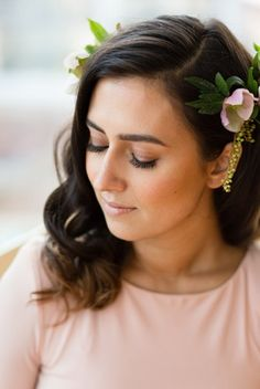 Found: Inspirational Bridal Beauty #refinery29 http://www.refinery29.com/2013/09/54315/shannon-obrien-makeup-artist#slide-4 OCC Loose Color in Smote and a coffee brown eye pencil were used to create Dani's subtle smoky eye. A naturally fluffy set of false lashes and an apricot blush were the perfect soft finishing touches.