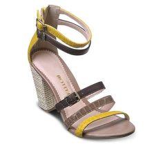 Sandália com tiras de couro coloridas | Sandálias | Bottero Calçados