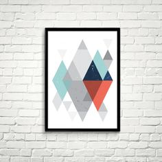 Scandinavian Poster Geometric Prints by ILovePrintable #iloveprintable #digitalart #printable