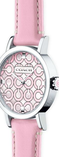 """~Coach """"Think Pink"""" Watch 