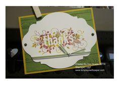 "Stampin Up Seasonally Scattered stamp set ""thanks"" card #stampinup"