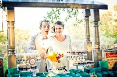 A Vintage Farmers Market Wedding Dessert Table