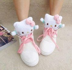 hello kitty shoes #kawaii