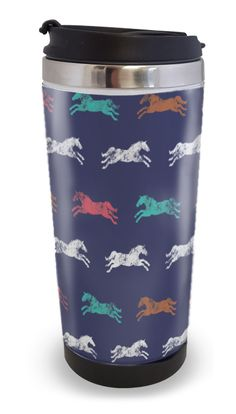Colorful Galloping Horses Travel Tumbler 14oz - The Painting Pony