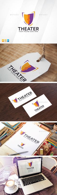 Theater	 Logo Design Template Vector #logotype Download it here: http://graphicriver.net/item/theater-logo/13080922?s_rank=522?ref=nexion