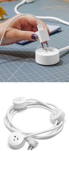 Pod extension cord. Great for shared offices.