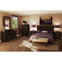 Bedroom Sets Black ashley furniture cavallino bedroom set with mansion poster bed