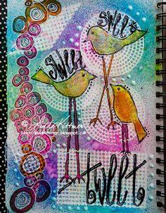 LINDA KITTMER'S FIBRE ART, PHOTOGRAPHY & JOURNALLING: StencilGirl and Craft Hoarders Blog Hop...