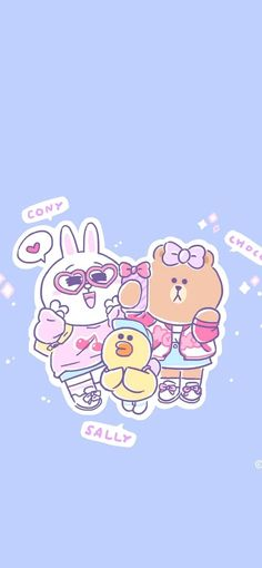 Cony Brown, Brown Wallpaper, Line Friends, Kawaii Wallpaper, Hello Kitty, Cartoon, Iphone Wallpapers, Cute, Journal