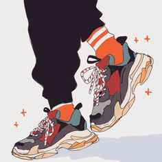 I love the ugly dad shoes dont judge Art Sketches, Art Drawings, Character Art, Character Design, Drawing Anime Clothes, Dad Shoes, Shoes Men, Men's Shoes, Sneaker Art