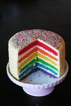 big rainbows    Rainbow Cake
