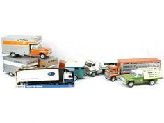 Ertl Toy Trucks | ERTL NY-INT VINTAGE ANTIQUE TOY LOT TRUCK TRAILER