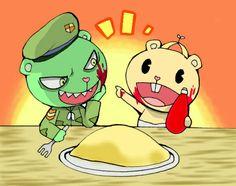 Fliqpy and Cub Happy Tree Friends Flippy, Happy Friends, Adult Animated Shows, Kids Cartoon Shows, Htf Anime, Creepy Guy, Alchemy Symbols, Free Friends, Funny Internet Memes