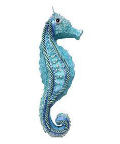 Sea Green Beaded Seahorse Ornament 16.99