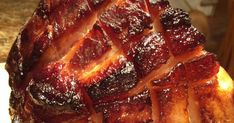 Classic cola-cola glazed ham with brown sugar and dijon that self-bastes in an oven bag for a super easy, super special baked ham. Baked Ham Recipe With Coke, Smoked Ham Recipe, Coca Cola Ham, Coke Ham, Ham Recipes, Cooking Recipes, Kitchen Recipes, Recipies, Dinner Recipes