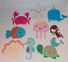 SIX Large Under the Sea Die Cuts ... by APaperPlayground on Etsy, $7.50 Great for Diaper Cake decorations