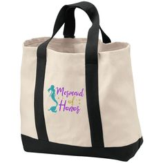 Mermaid Of Honor 2-Tone Shopping Tote