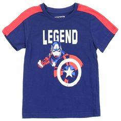 Marvel Boys Pixel Heroes T-Shirt New Blue Captain America Spiderman Hulk