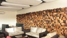 """Revamped wood wall Design"""