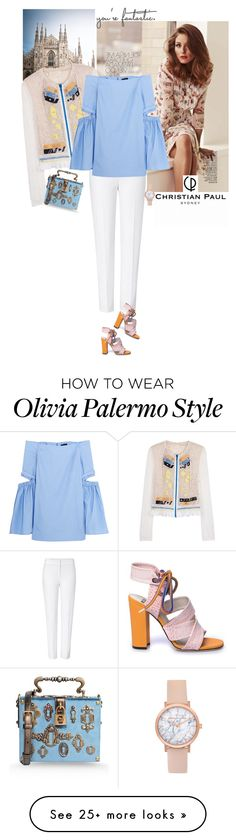 """Untitled #1510"" by hil4ry on Polyvore featuring Peter Pilotto, ESCADA, E L L E R Y, MSGM, Dolce&Gabbana, watch and christianpaul"
