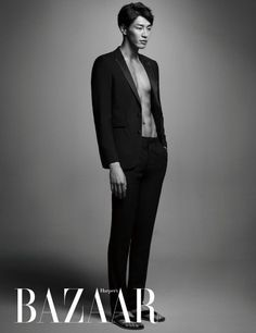 Kim Young Kwang Reveals His Six-Pack Abs in Harper's Bazaar