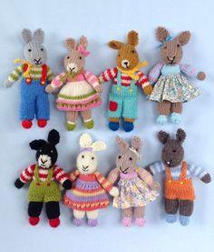 Knitting Pattern for Rabbit Rascals