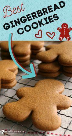 Galletas Cookies, Holiday Cookies, Holiday Desserts, Holiday Baking, Ginger Bread Cookies Recipe, Yummy Cookies, Cookie Recipes, Ginger Man Cookies, Sugar Cookies