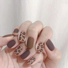 Nail Art Cute, Trendy Nail Art, Easy Nail Art, Stylish Nails, Nail Art Pics, Cute Fall Nails, Fun Nails, Korean Nail Art, Korean Nails