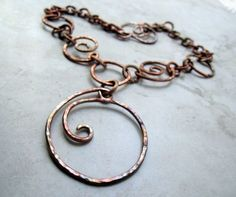 Photo of Whirlpools in Copper Necklace