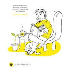 Productos exclusivos diseñados con cariño por Pasionteki --------- Fernando Mourelle Puentes y Fernando Halcón ---------- Pasionteki es el sitio donde todos las personas que viven y trabajan para el mundo #digital pueden encontrar piezas de diseño que representan su forma de ver y vivir su profesión Living In Yellow, Bible, Passion, Comics, Design, Shape, World, Original Gifts, Personalized Cups