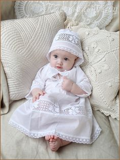 Baptism gown and bonnet